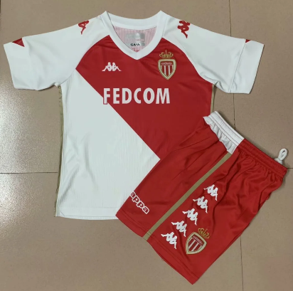 AS Monaco FC 20/21 Home Soccer Jersey and Short Kit