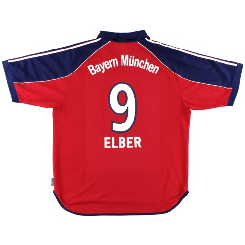 Bayern Munich 1999-01 Home Retro Jersey Elber #9