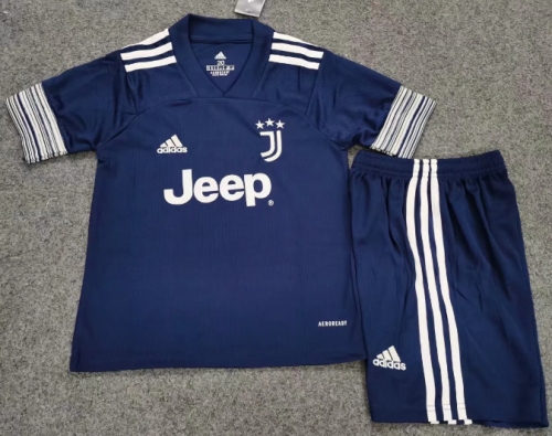 Juventus 20/21 Kids Away Soccer Jersey and Short Kit