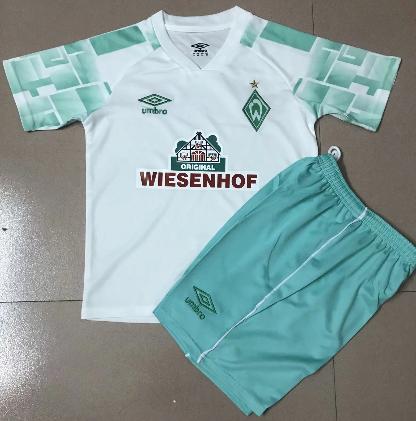 Werder Bremen 20/21 Kids Away Soccer Jersey and Short Kit