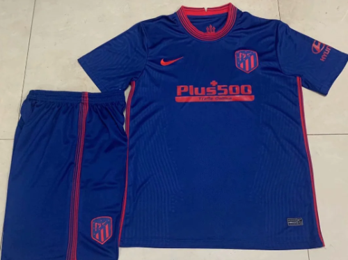 Atletico Madrid 20/21 Away Soccer Jersey and Short Kit