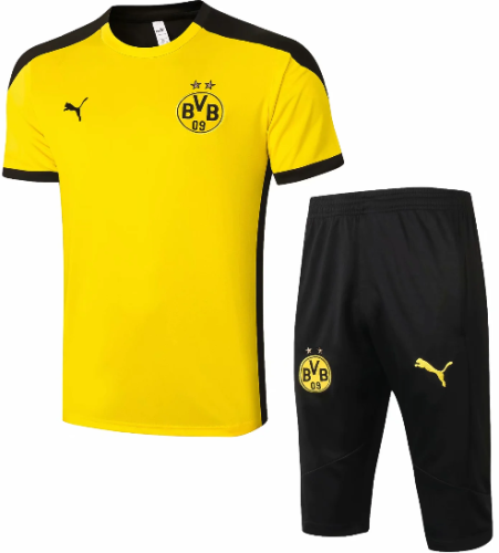 Borussia Dortmund 20/21 Training Jersey and Short Kit -D558