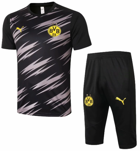 Borussia Dortmund 20/21 Training Jersey and Short Kit -D562