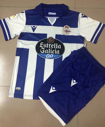 Deportivo De La Coruna 20/21 Home Soccer Jersey and Short Kit