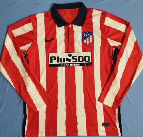 Thai Version Atletico Madrid 20/21 Home LS Soccer Jersey