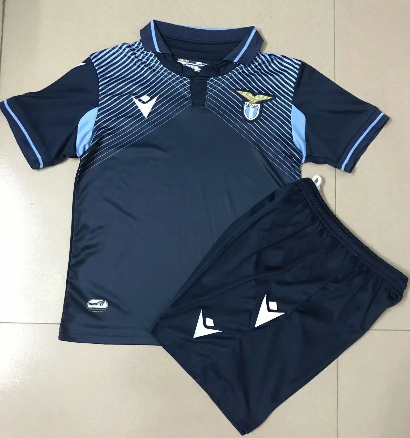 SS Lazio 20/21 Kids Away Soccer Jersey and Short Kit