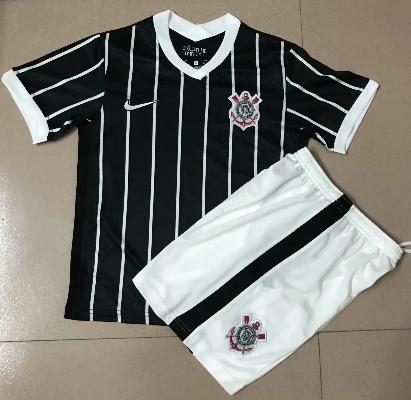 Corinthians 20/21 Kids Away Soccer Jersey and Short Kit