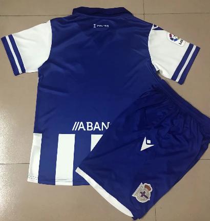Deportivo De La Coruna 20/21 Kids Home Soccer Jersey and Short Kit