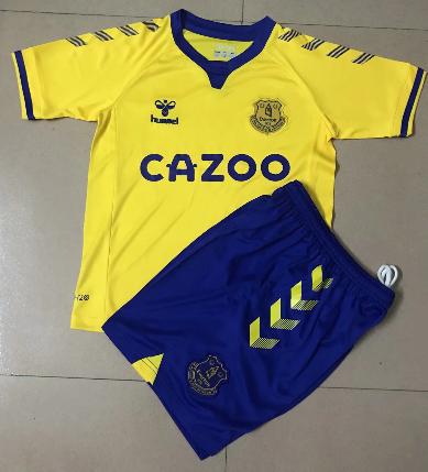 Everton 20/21 Kids Away Soccer Jersey and Short Kit