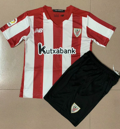 Athletic Bilbao 20/21 Kids Home Soccer Jersey and Short Kit