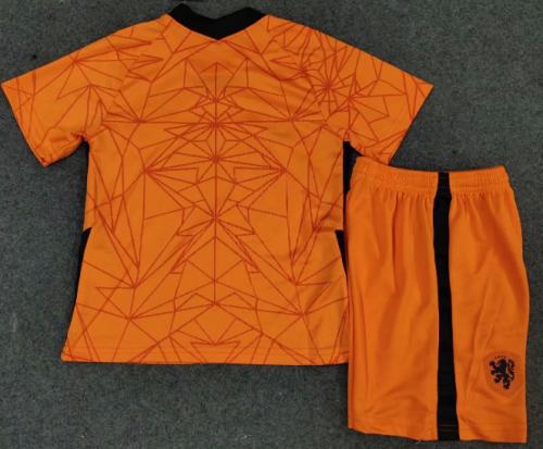 Netherlands 20/21 Kids Home Soccer Jersey and Short Kit