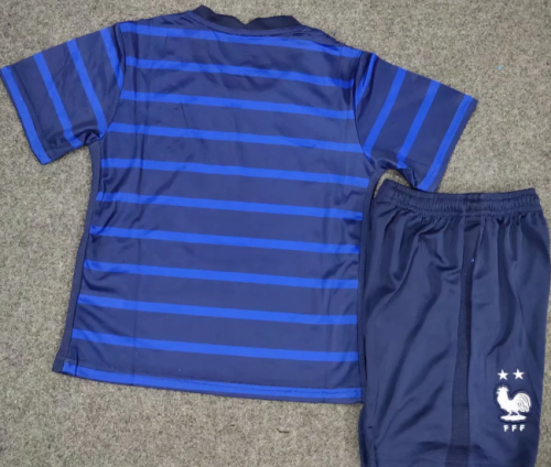 France 20/21 Kids Home Soccer Jersey and Short Kit