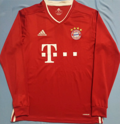 Thai Version Bayern Munich 20/21 LS Home Soccer Jersey