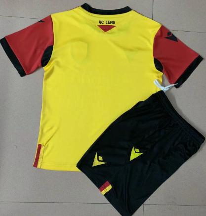 RC Lens 20/21 Kids Home Soccer Jersey and Short Kit