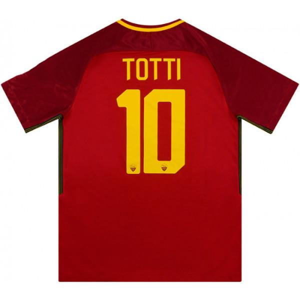 AS Roma 2017/18 Home Retro Jersey #10 Totti