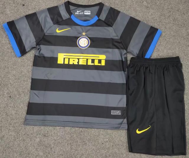 Inter Milan 20/21 Kids Third Soccer Jersey and Short Kit