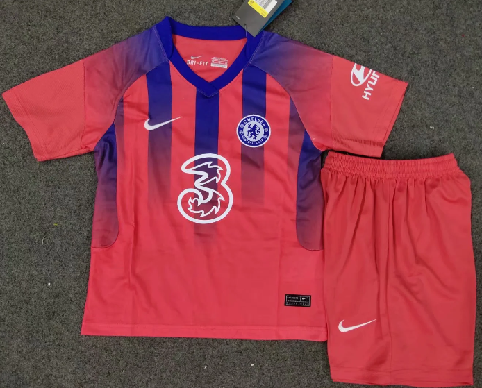 Chelsea 20/21 Kids Third Soccer Jersey and Short Kit