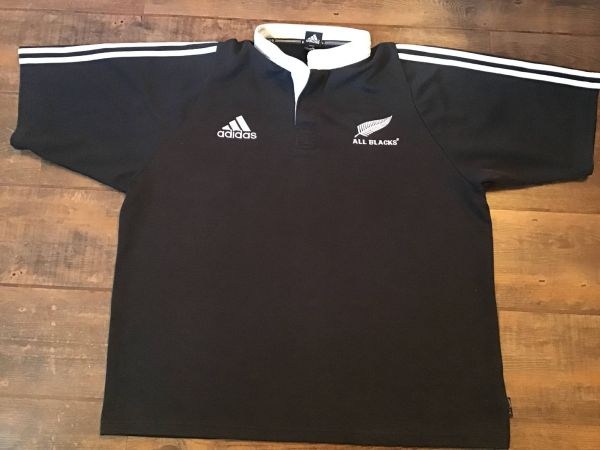 New Zealand 2003-2004 Men's Retro Home Rugby Jersey