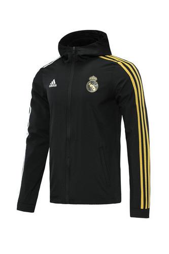 Real Madrid 20/21 Windbreaker Black