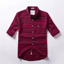 Men's Casual Brand Classic L/S Plaid Shirts AF-007