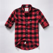 Men's Casual Brand Classic L/S Plaid Shirts AF-009