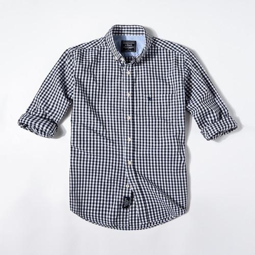 Men's Casual Brand Classic L/S Stripe Shirts A-F-009