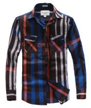 Men's Casual Wear Brand Classic L/S Plaid Shirts AF-S003