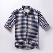 Men's Casual Brand Classic L/S Plaid Shirts AF-006