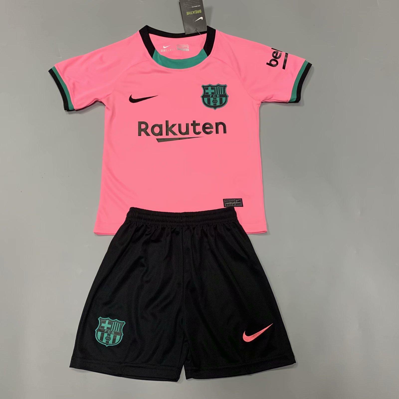 Barcelona 20/21 Kids Third Soccer Jersey and Short Kit