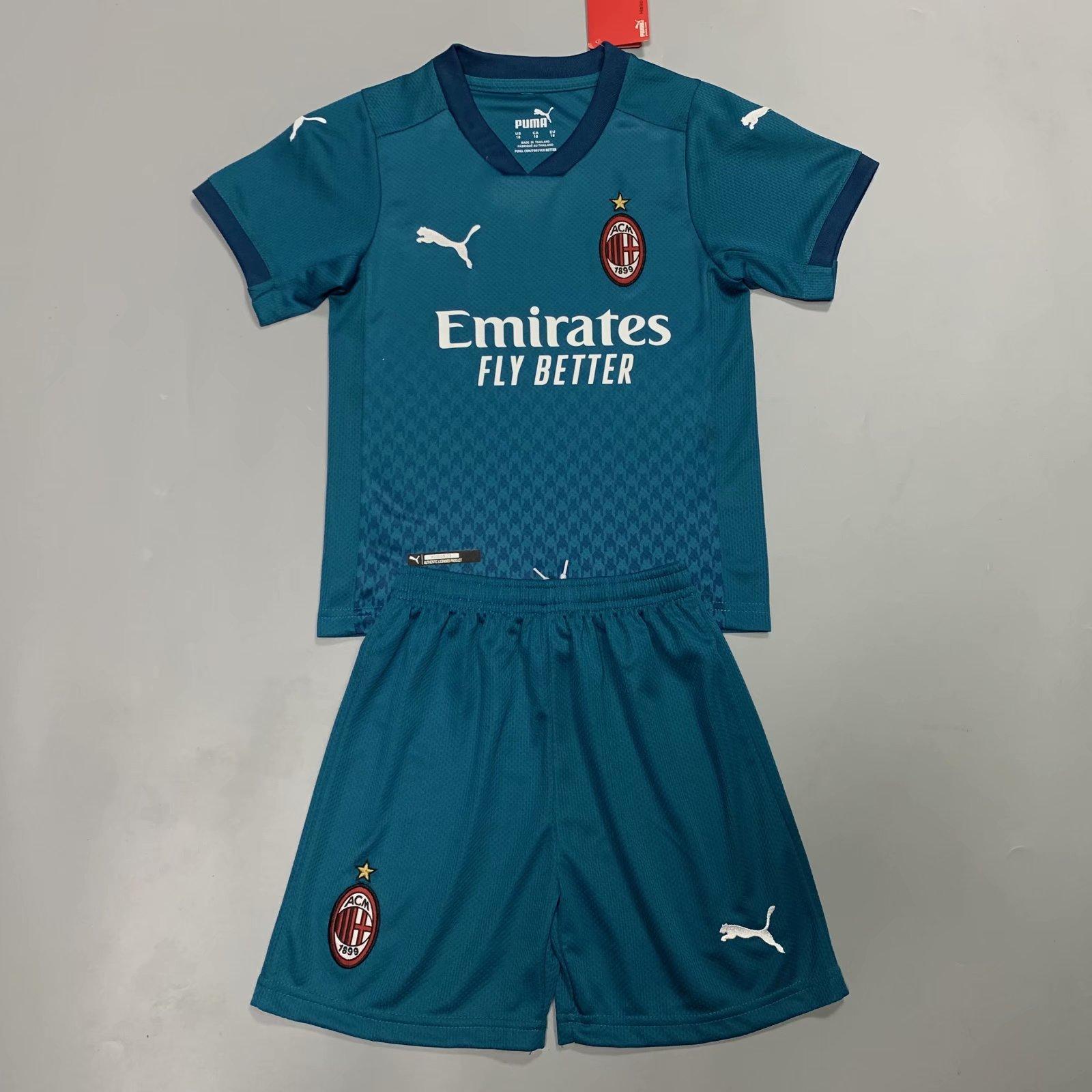 AC Milan 20/21 Kids Third Soccer Jersey and Short Kit