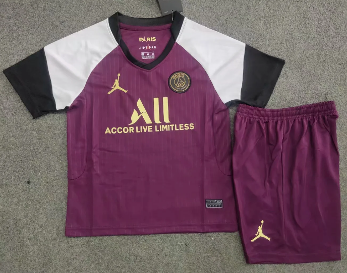 Paris Saint-Germain 20/21 Kids Third Soccer Jersey and Short Kit