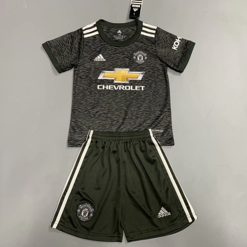 Manchester United 20/21 Kids Away Soccer Jersey and Short Kit