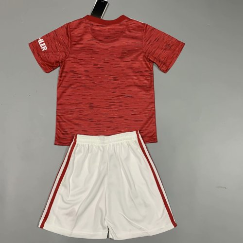 Manchester United 20/21 Kids Home Soccer Jersey and Short Kit