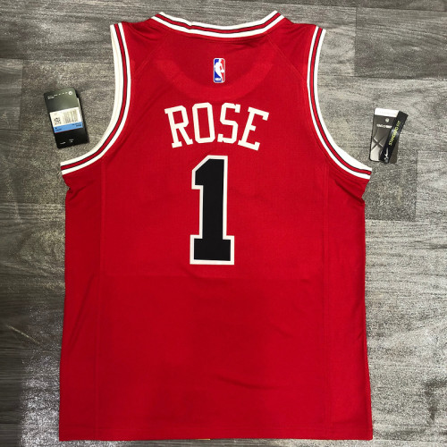 Thai Version Derrick Rose Men's Red Player Jersey - Classic Edition