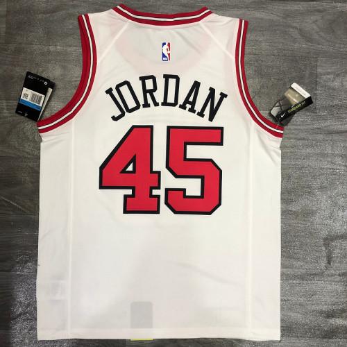 Thai Version Michael Jordan Men's White Player Jersey - Classic Edition