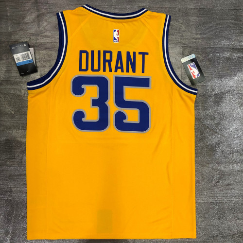 Thai Version Kevin Durant Men's Yellow Player Jersey - Classic Edition