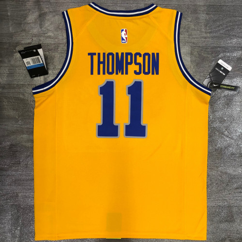 Thai Version Klay Thompson Men's Yellow Player Jersey - Classic Edition