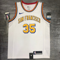Thai Version Kevin Durant Men's White Player Jersey - San Francisco Classic Edition