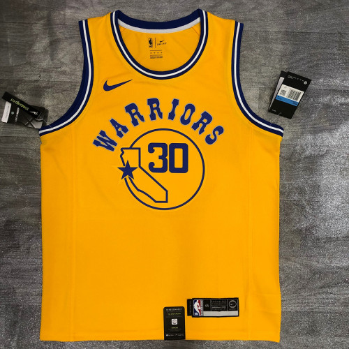 Thai Version Stephen Curry Men's Yellow Player Jersey - Classic Edition