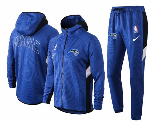 Blue Full-Zip Trake Hoodie Jacket and Pants H026