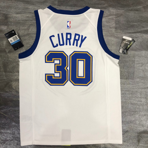 Thai Version Stephen Curry Men's White Player Jersey - Classic Edition