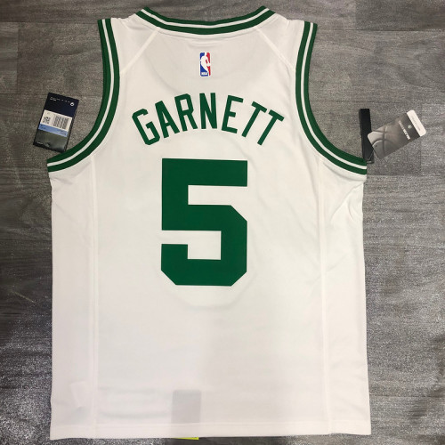 Thai Version Kevin Garnett White Men's Player Jersey-Association Edition