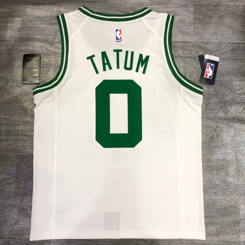 Thai Version Jayson Tatum White Men's Player Jersey-Association Edition