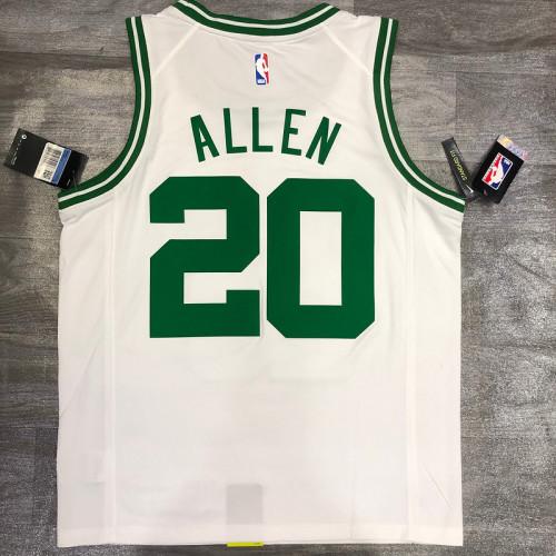 Thai Version Ray Allen White Men's Player Jersey-Association Edition