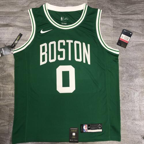 Thai Version Jayson Tatum Men's Green Player Jersey- Icon Edition