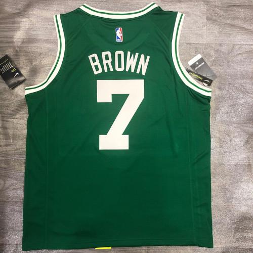 Thai Version Jaylen Brown Men's Green Player Jersey- Icon Edition