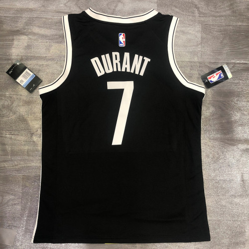 Thai Version Kevin Durant Men's Black Player Jersey- Icon Edition
