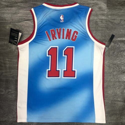 Thai Version Kyrie Irving Men's Blue Player Jersey- Retro Classic Edition