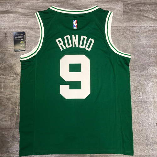 Thai Version Rajon Rondo Men's Green Player Jersey- Icon Edition