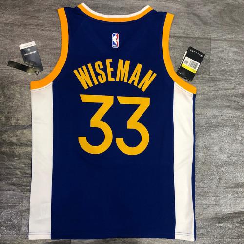 Thai Version James Wiseman Men's Blue Player Jersey